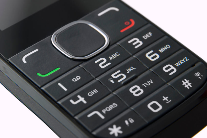 large button cell phone for the visually impaired