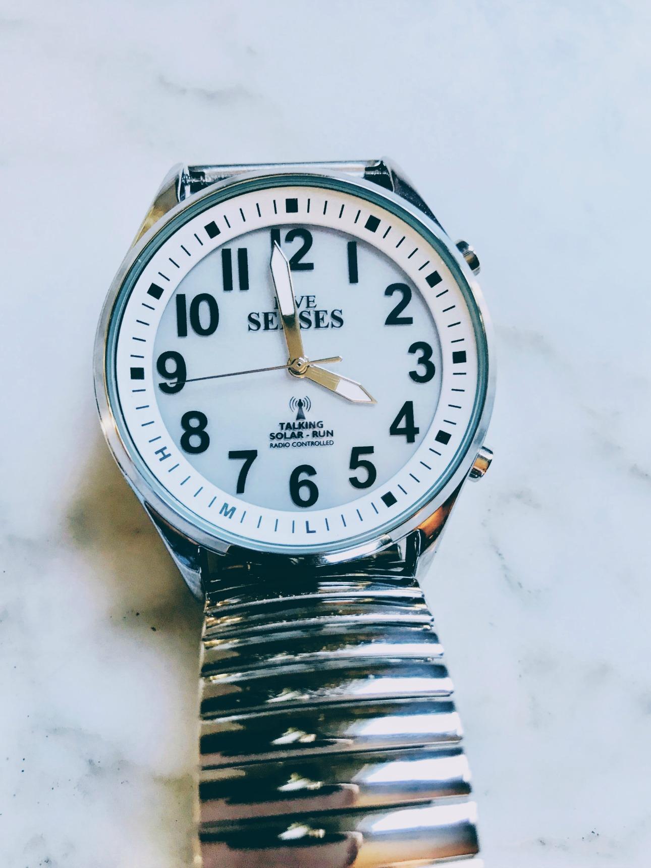atomic talking low vision watch