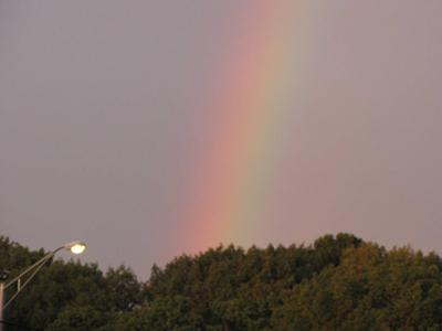 During the Storm: A Rainbow