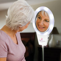 Lighted Magnifying Mirrors For Those With Low Vision