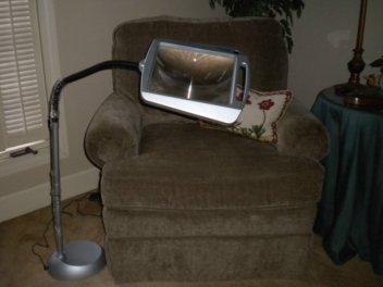 magnifier with light. Black Bedroom Furniture Sets. Home Design Ideas
