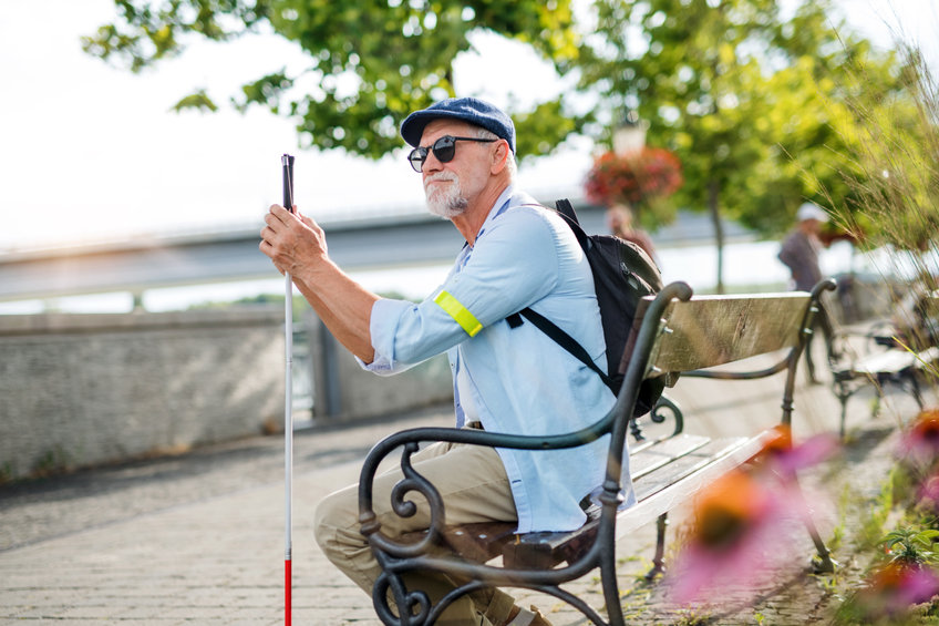 white cane for the visually impaired