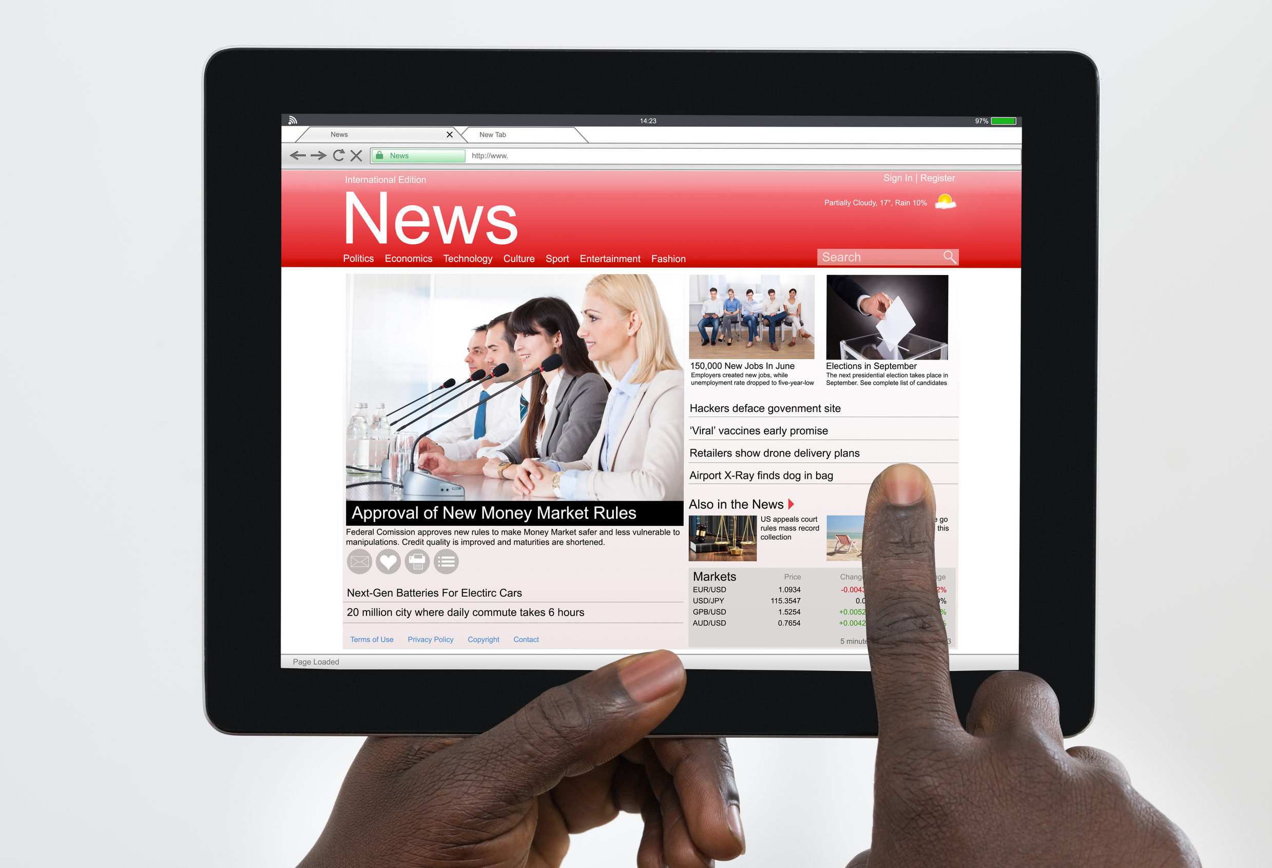digital large print newspaper