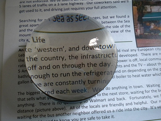 reading magnifier to turn your printed material into large print newspapers and large print magazines