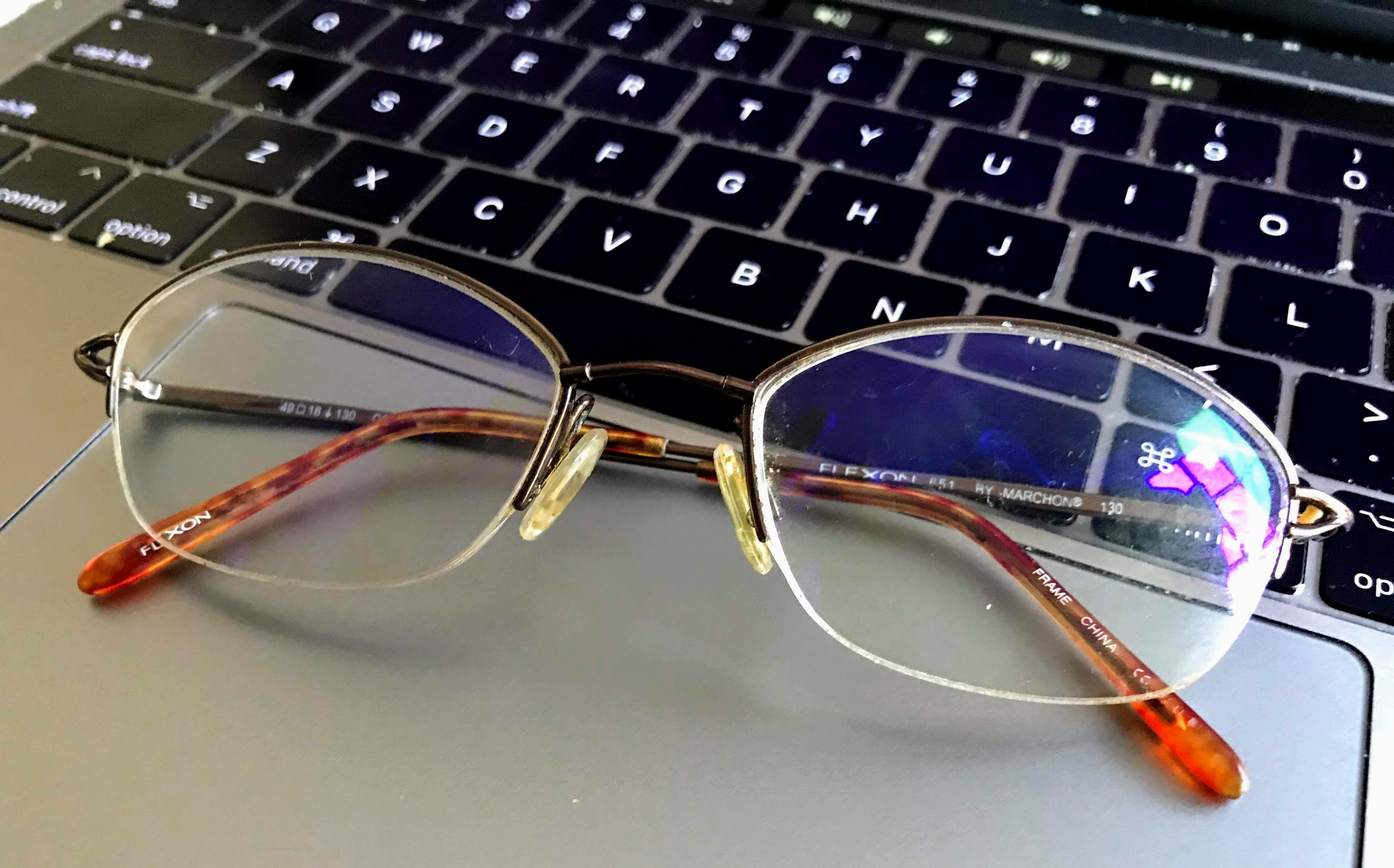 computer eye strain glasses